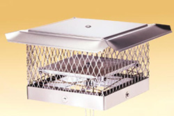 Lock-Top II Top Sealing Fireplace damper with protective chimney cap